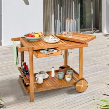 Outdoor Grill Trolley