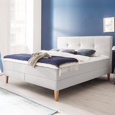 Boxspringbett in Landhaus-Optik, 180 x 200 cm