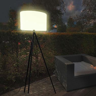 Smarte Outdoor LED-Stehleuchte Khaya White + Color